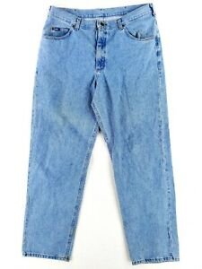 Vintage Lee 40x34 Blue Jeans Classic Heavy Denim Stone Wash Faded 90s Dad Casual $25.79