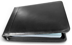 Executive Business Check Binder Pu Leather 7 Ring Checkbook Cover 3 Checks Page