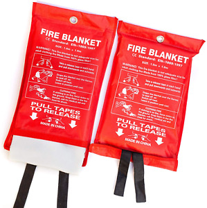 Padoma Fire Blanket Fire Suppression Blanket For Home 2 Pack Heavy Duty Fiberg