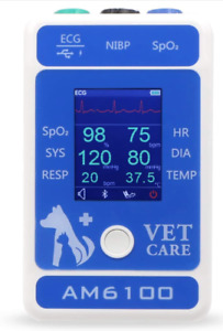 Am6100 Veterinary Patient Monitor Pet Animal Portable Monitor Android Bluetooth