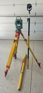 Nikon Dtm 330 Surveying Total Station With Horizon Prism Pole And Prism