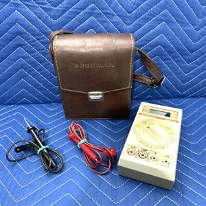 Beckman Tech 310 Digital Multimeter With Leather Case Parts Only Repair As Is