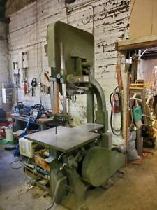 Northfield 32 Inch Vertical Wood Bandsaw Mfg Date 1983 Wired For 230 Volts