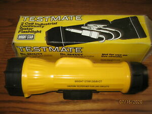Vintage Bright Star 2618 ct Testmate Flashlight Continuity Tester New In Box