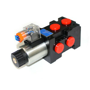 1x Hydraulic Solenoid Operated Selector Diverter Valve 12v 13 Gpm 25mpa 6 Port