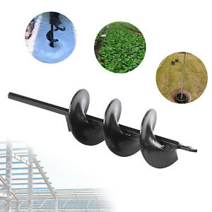 9 Planting Auger Spiral Hole Drill Bit Garden Yard Bulb Earth Planter Tool New