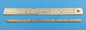 2 6 Inch Rules Stainless Steel these Are Machinist Type Rules Excellent