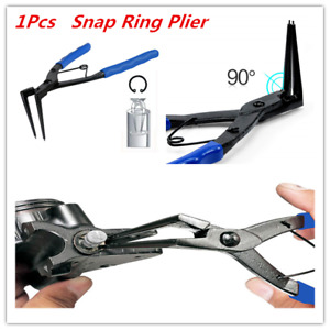 90 Internal Bent Nose Snap Ring Circlip Pliers For Car Moto Remove Install