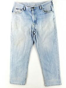 VINTAGE Lee 40x30 USA MADE Blue Jeans Classic Heavy Denim Faded Grunge Worn 80s $25.79