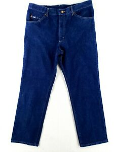 VINTAGE Lee 40x32 USA MADE Blue Jeans Classic Heavy Denim Work Casual $31.79