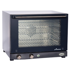 Cadco Ov 023 Compact Half Size Convection Oven With Manual Controls