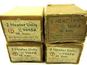 New Trumbull Electric 9885 r Overload Thermal Heating Element 85 Amp Lot Of 4