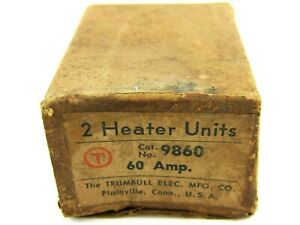 New Trumbull Electric 9860 Overload Thermal Heating Element 60 Amp