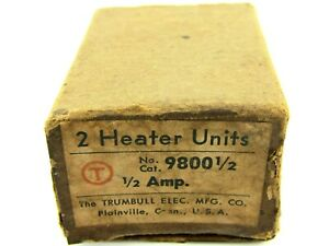 New Trumbull Electric 9800 Overload Thermal Heating Element Amp