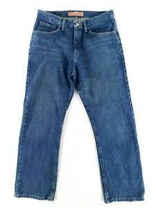 Lee Relaxed Bootcut Dungarees 32x30 Blue Jeans Classic Denim Faded $25.79