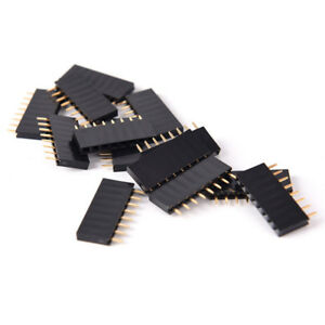 10pcs 8 Pin Female Tall Stackable Header Connector Socket For Arduino Shiedc