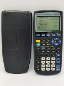 Texas Instruments Ti 83 Plus Graphing Calculator With Cover Tested Works