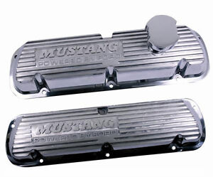 Ford Racing 1986 1993 Mustang Logo 5 0l Efi Polished Valve Covers M 6000 f302
