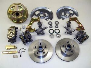 1962 To 1967 Chevy Ii Nova Power Disc Brake Kit Stock Height Spindles 9 Booster