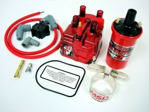 90 93 Honda Accord Msd External Coil Red Clear Distributor Cap Conversion Kit