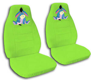 A Set Of Of Car Seat Covers Lime Green W eeyore Cute