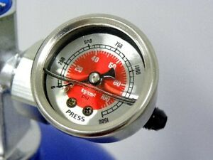 0 1500 Psi Nitrous Pressure Gauge Kit 4an Bottle Red