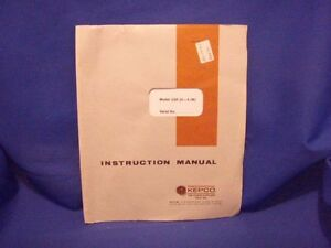 Kepco Jqe 25 4 m Instruction Manual