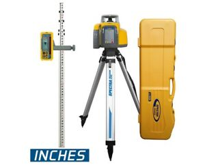 Spectra Precision Ll300n Laser Level Hl450 Receiver tripod Rod Inches