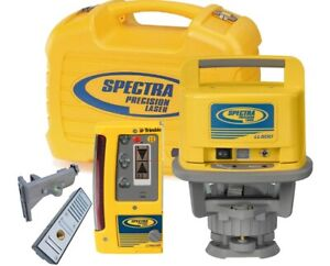 Spectra Ll500 Rotary Laser Level 1 600 foot Range With Cr600 Receiver