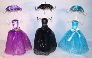 6 Umbrella Dress Jewelry Display Rack Necklace Box