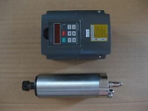 A Water cooled Spindle Motor 2 2kw With A Vfd Inverter Controller As A Set
