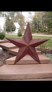 4 18 Rusted Metal Star Old Barn Tin Rusty Texas Sign