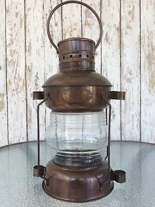 Iron Ship Lantern Antique Finish Nautical Maritime Oil Lamp Light