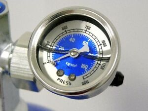 Nos Nitrous Bottle Pressure Gauge Kit 4an Line Blue