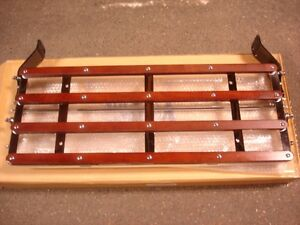 1928 1929 1930 1931 Ford Model A Luggage Rack Chrome Wood Nice