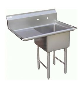 1 Compartment Prep Sink 15 x15 With 1 Left Drainboard