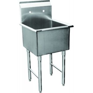 1 Compartment Prep Sink 24 x24 Stainless Steel Nsf