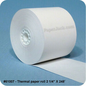 61007 Thermal Paper Rolls 2 1 4 X 248 Case Of 50 Rolls