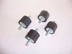 4 Rubber Vibration Isolator Mounts 1 4 20 1 X 3 4 Made In The Usa
