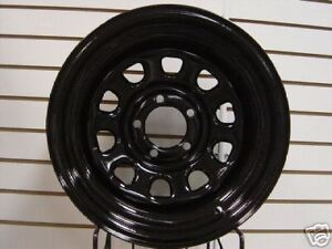 Black Mountain Jeep Wrangler Black Rock Wheel Combo 87 06 Yj Tj 84 01 Xj 5x4 5