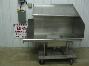 47 Stainless Dirty Right Hobart Dish Table W Shelf 4