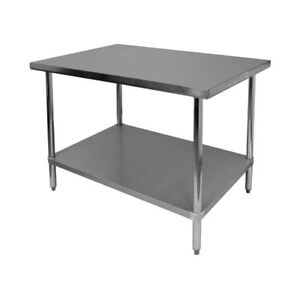 Stainless Steel Work Table 30 x30 Nsf Flat Top