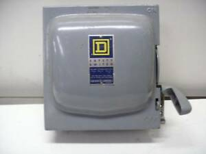 Square D 30 Amp Fusible H 321n Safety Switch