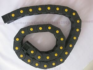 2 Cable Drag Chain Wire Carrier 25 57 r75 1200 1500mm