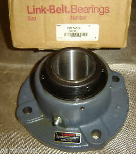 Link Belt Fb22432e Flange Bearing 2 Shaft Pillow Block