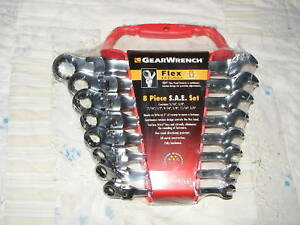Gearwrench 8pc Sae Flex Head Ratcheting Wrench Set