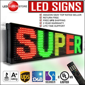 Led Super Store 3col rgy ir 52 x19 Programmable Scrolling Emc Display Msg Sign