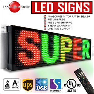 Led Super Store 3col rgy ir 22 x60 Programmable Scrolling Emc Display Msg Sign