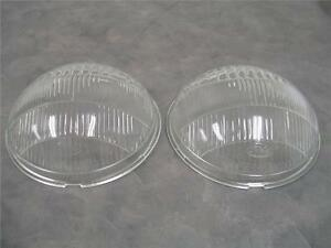 1936 Ford Passenger Car Glass Headlight Head Lamp Lens Lenses Pair
