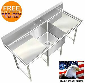 Pot Sink Heavy Duty Stainless Steel 14ga 1 Tub 72x30 Nsf Approved Made In Usa